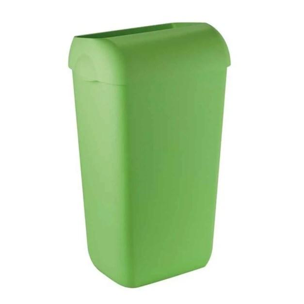 WillieJan Marplast afvalbak -Groen - 23 liter - met hidden cover - muurbevestiging of vrijstaand