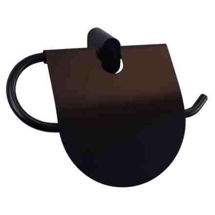 WillieJan Toiletrol houder 66907A - Muurbevestiging - Aluminium - Zwart