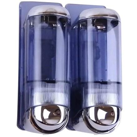 Marplast zeepdispenser 8652 - Professionele kwaliteit - Chroom met Transparant - Inhoud 2 x 170 ml