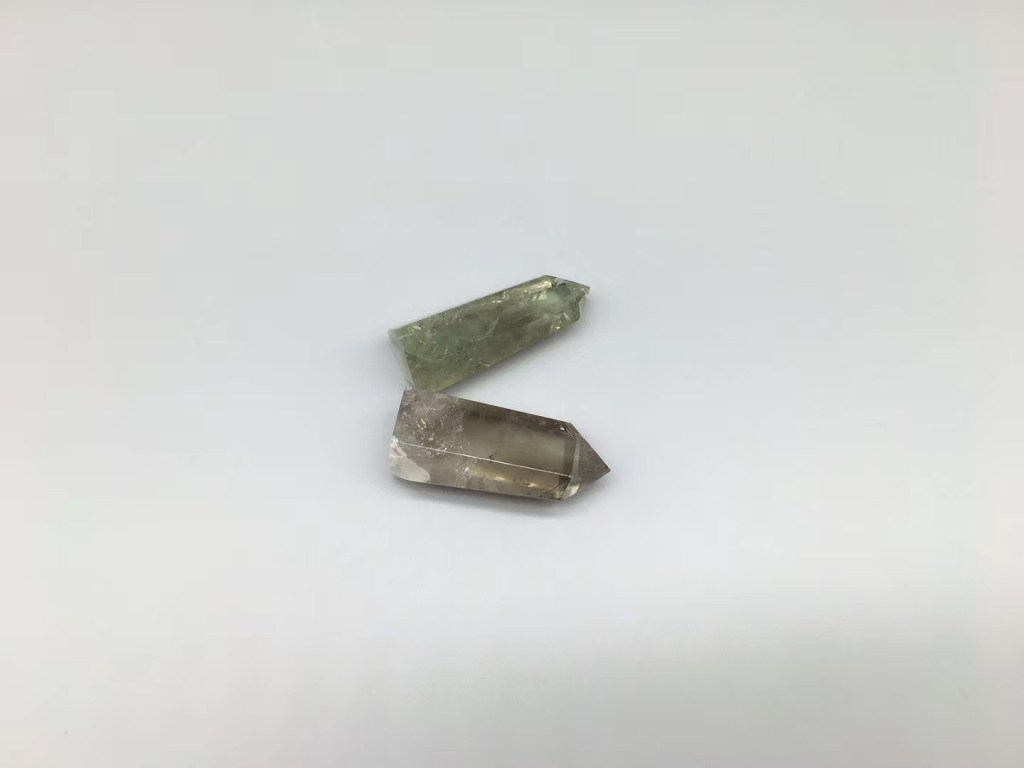 Green Clear Crystal Point