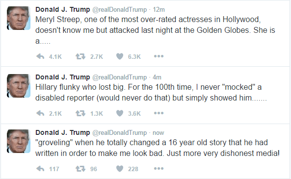 Drumpf Tweets on Streep