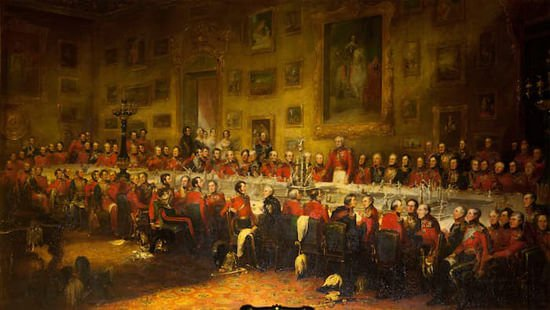 The Waterloo Banquet' (1836), by William Salter
