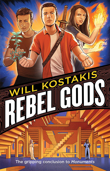 Rebel Gods book cover: sequel to Will Kostakis's Monuments