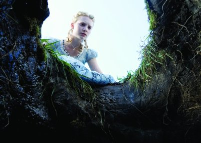Alice in Wonderland - Alice, Looking Down the Rabbit Hole