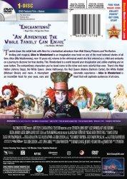 Alice in Wonderland Cover (DVD, Back)