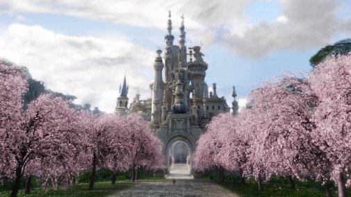 Alice in Wonderland - Scenery, White Queen's Castle