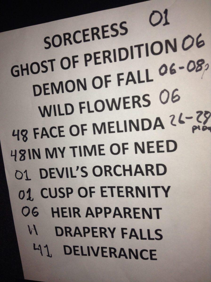 Opeth Auckland Powerstation Set List