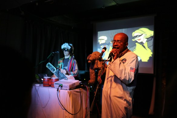 David Liebe Hart with a puppet singing at Meow Wellington