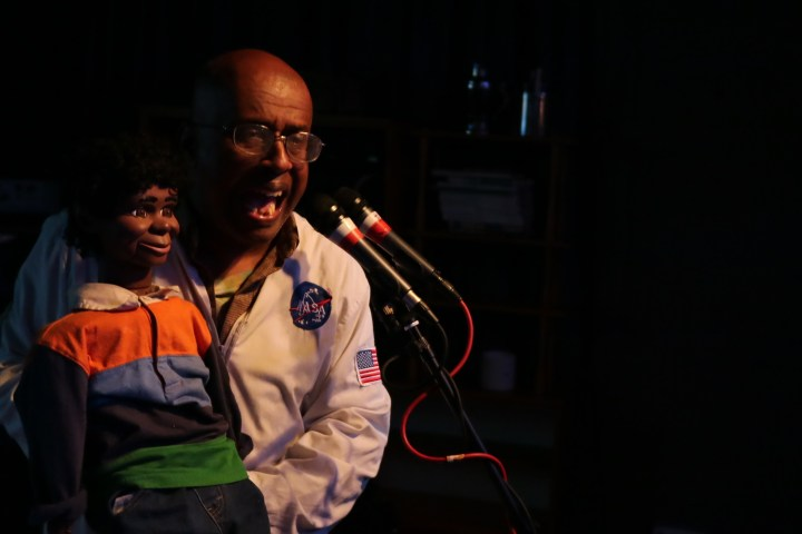 David Liebe Hart with puppet singing Father and Son at Meow, Wellington