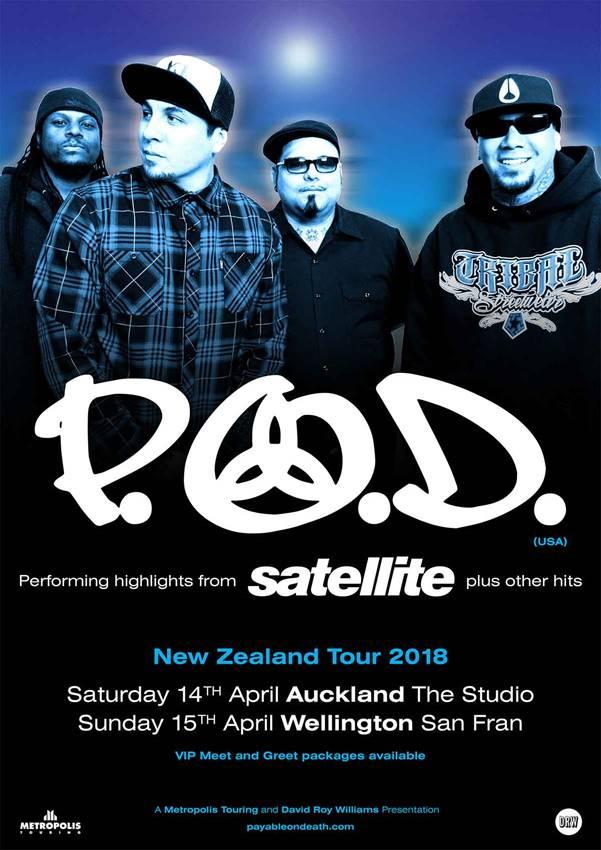 POD 2018 NZ Tour Poster