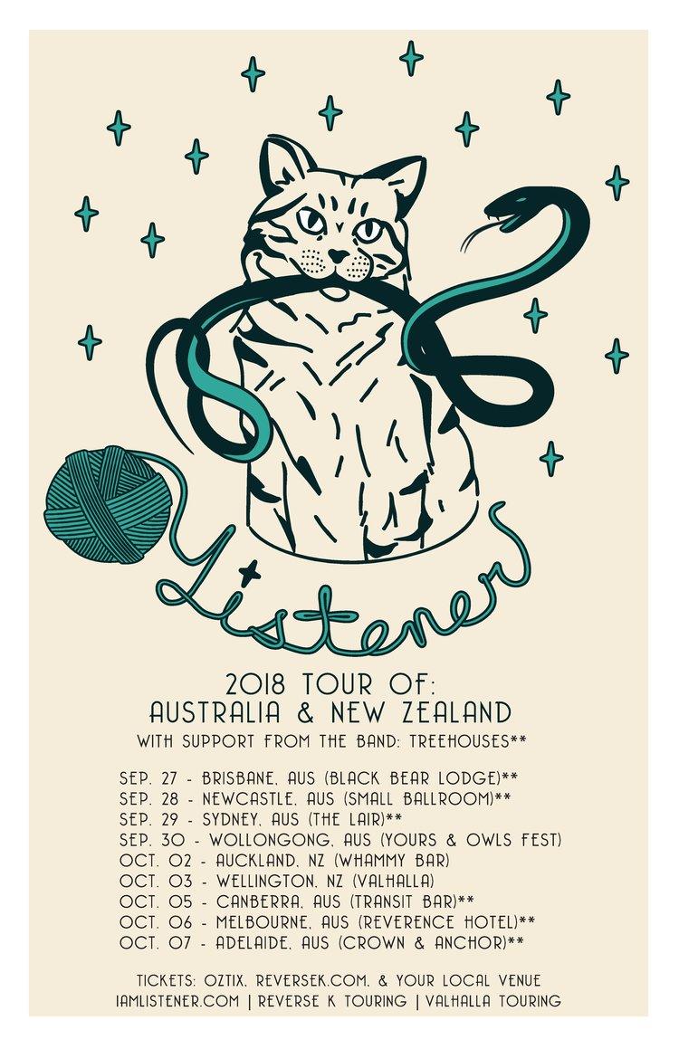 Listener Au NZ tour poster