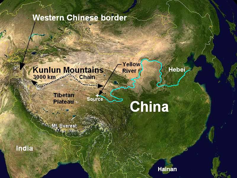 Kunlun Mountains Map The Kunlun Mountains paradise of Taoism   Cradle of Civilization