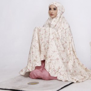 Mukena Nibras NM 01 Dusty Cream