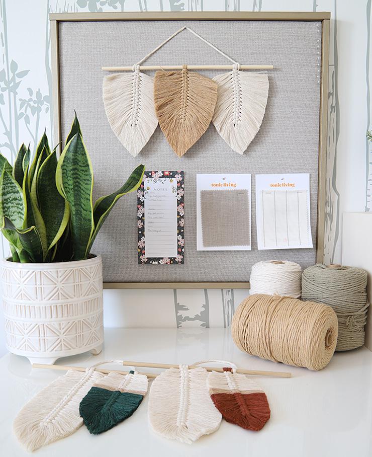 DIY Boho Macrame Feather Wall Hanging