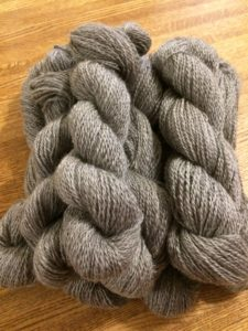 Skeins of 2-ply Lincoln Longwool