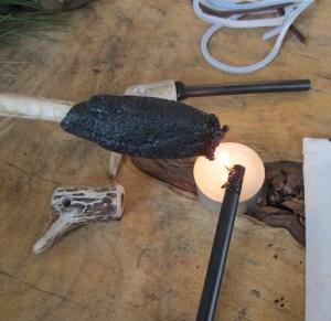 Pine Resin Glue Hardened on Stick