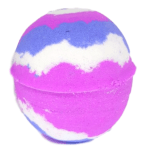 Pink and purple berry sorbet bathbomb