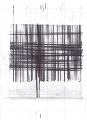 2015, Ink on grid paper.