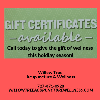 Call today to give the gift of wellness this holdiay season!