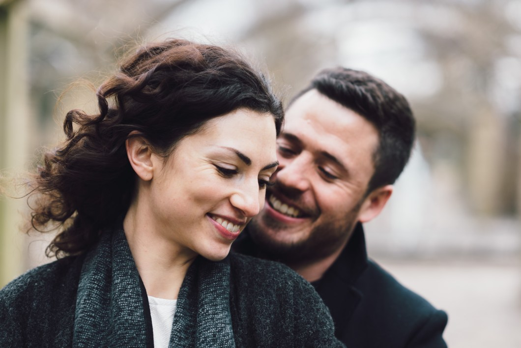 Nothing but smiles on this winter engagement shoot
