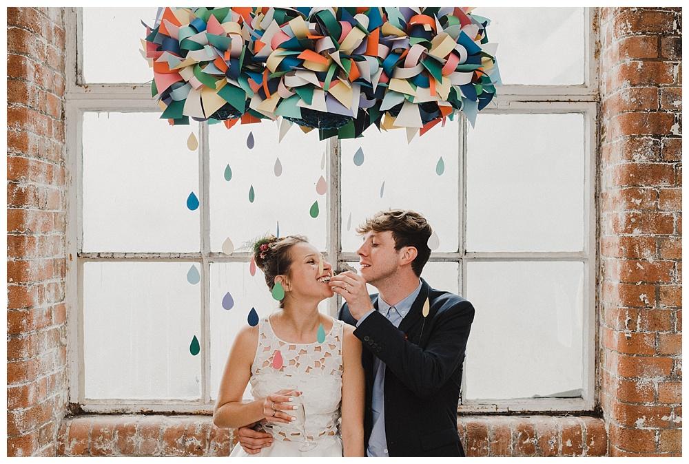 Bride and groom at JJ Wimborne wedding reception