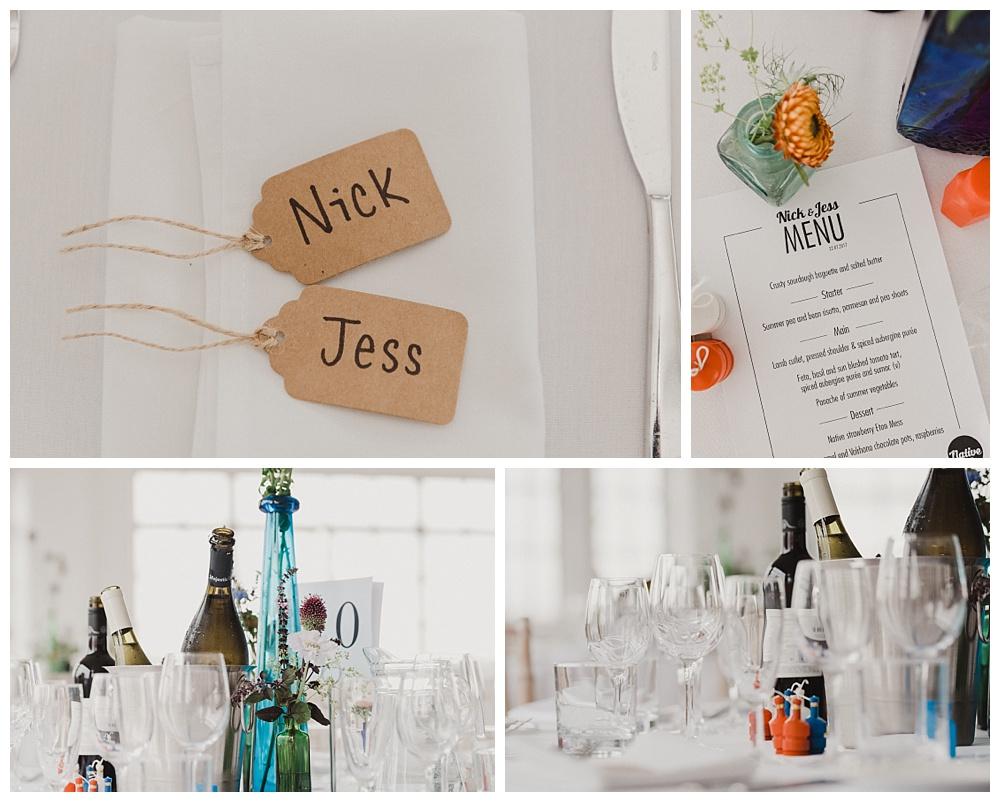JJ Wimborne reception table styling