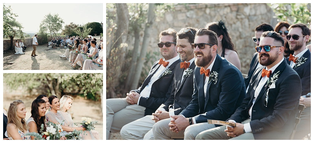 italian wedding ceremony outside
