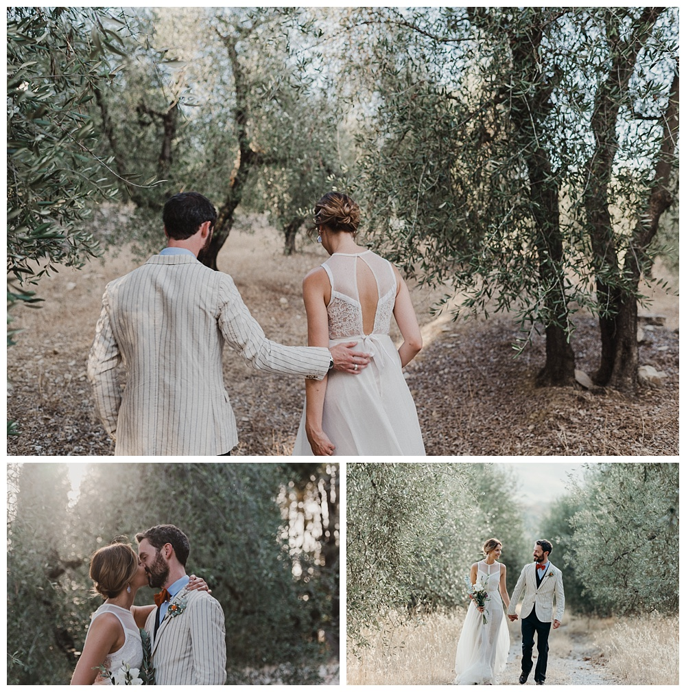 Bride and groom italian portraits