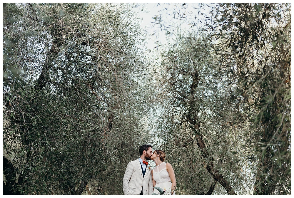 Bride and groom italian portraits olive groves
