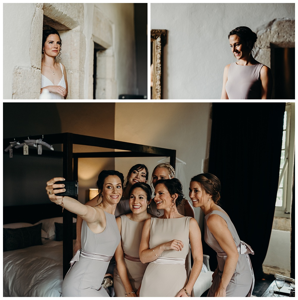 France Wedding Photographer - bridesmaids get ready