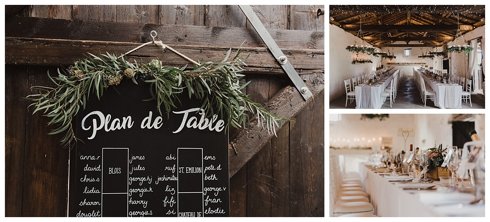 Plan de table for french wedding