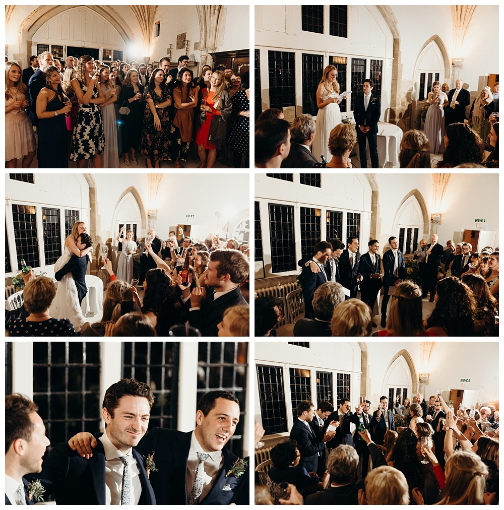 Speeches at Butley Priory Wedding.