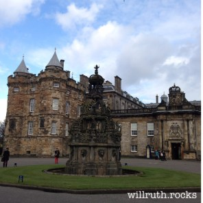 Holyrood Palace, wo Bonnie Prince Charlie 1745 für ein paar Wochen Hof hielt