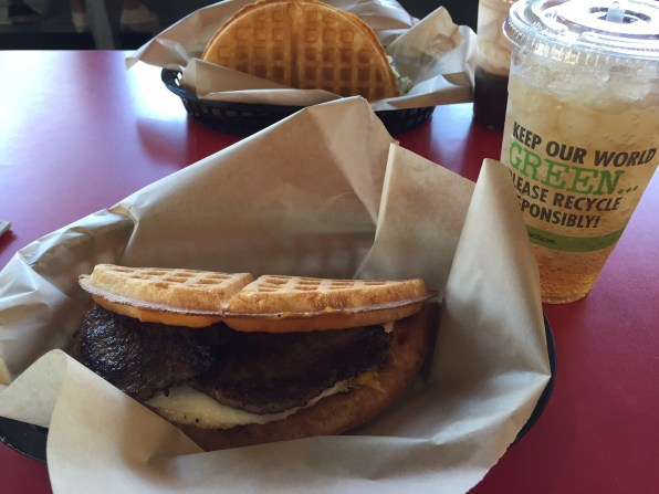 Sausage & Egg Waffle Sandwich