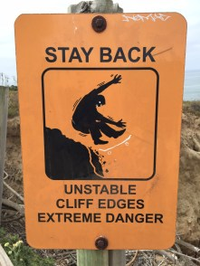 Don't skate at the cliffs...