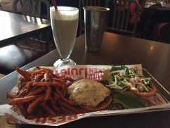San Diego Smashburger with Sweet Potato Fries
