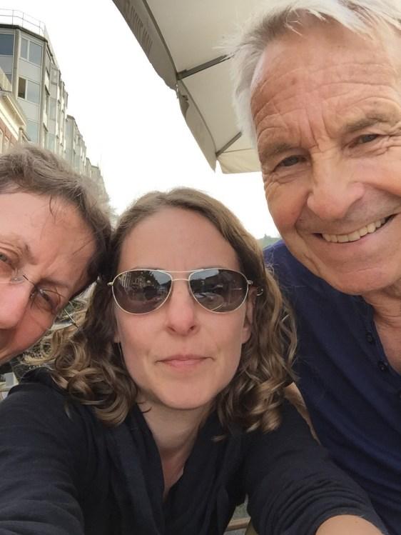 Amsterdam-Selfie - wir üben noch...