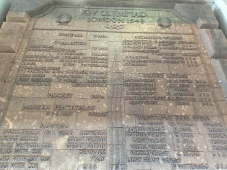 ...sind die letzten Reste des alten Stadions.