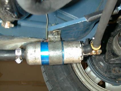 Die Pumpstation: Mercedes-Teile sind gerade gut genug.