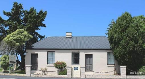 Bicheno Courthouse, former, gaol house, Tasmania, early Australian courthouses, old Australian courthouses, Australian legal history