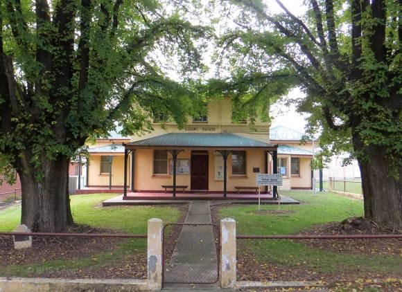 Tumbarumba Courthouse, early Australian Courthouses, Australian Courthouses, Australian legal history,