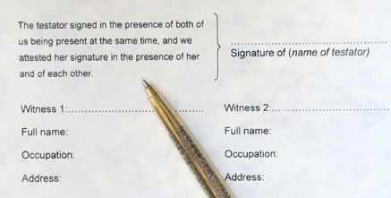 witness, witness a will, who can witness a will, witnessing a will, witnesses, attest, sign, make a will