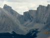 Close up photo of Fortress Mt and Headwall Lakes