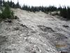 Landslide along Exshaw Creek
