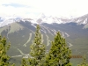 Nakiska ski hill from the first view point after the treed trail