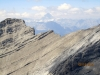 Mt Assinaboine through Gusty ridge