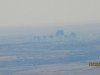 Hazy view of Calgary from Cox Hill