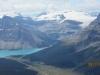 Bow lake and lake below Bow Glacier