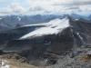 Views south. Cirque Peak behind glacier