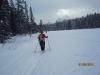 Skiing on Pipestone lake